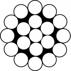 BOBINE CABLE MONOTORON DIA 2,5MM INOX BOB 50ML