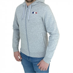 SWEAT LACOSTE HOMME GRIS