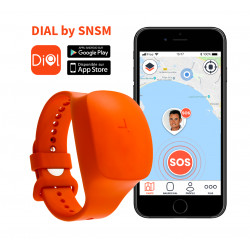 BRACELET BALISE SAUVETAGE GPS  IDO-DATA DIAL FOR SNSM BY STARK