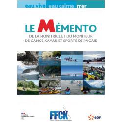 Mémento du moniteur et monitrice de Canoe Kayak et Sports de Pagaie